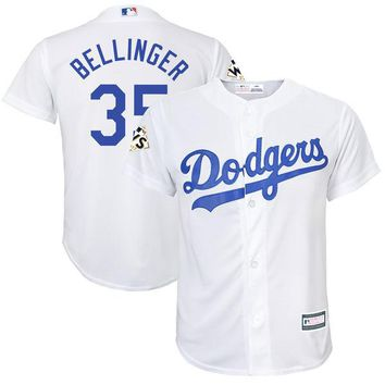 Youth Los Angeles Dodgers Cody Bellinger White 2017 World Series Bound Player Jersey