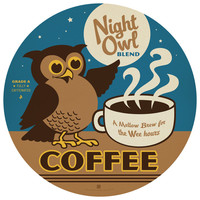 Anderson Design Group's Night Owl Coffee Circle Decal