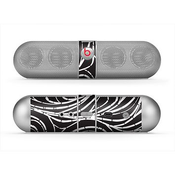 The Vector White and Black Segmented Swirls Skin for the Beats by Dre Pill Bluetooth Speaker