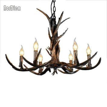 6/8/10 Arms Modern Chandeliers for bedroom christmas lamp pendentes e lustres Antlers resin ceiling pendant chandelier