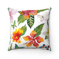 Hibiscus Decorative Throw Pillow, Florida Home Decor, Tropical Home Decor, Beach House Throw Pillows