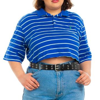 Vintage 90's Ralph Lauren Polo Striped Crop Top - XL/2X/3X/4X