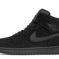 "AIR JORDAN 1 MID ""BLACK SUEDE"""