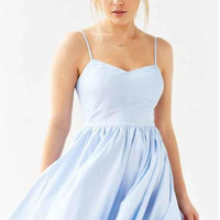 Sphagehtti Strap Fit and Flare Dress