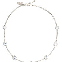 Kate Spade Clink Of Ice Short Scatter Necklace Clear ONE
