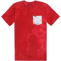 Hurley Bird Fish Pocket T-Shirt - Mens Tee - Red -