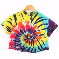 Chameleon Tie-Dye Cropped Tee