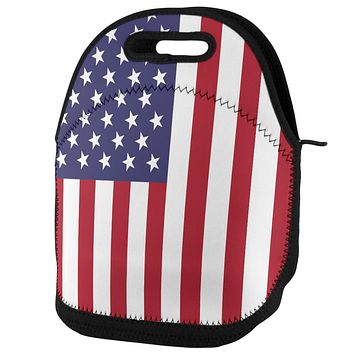 4th of July USA American Flag Lunch Tote Bag