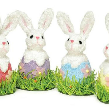 "12 Easter Bunnies - 8 "" H"