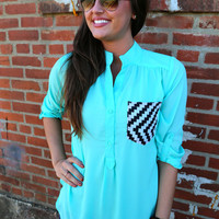 Digi Print Pocket {Mint}