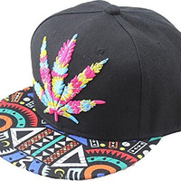 YOXO Hip Pop Marijuana Weed Snapback Cap Hat Men Baseball Cap