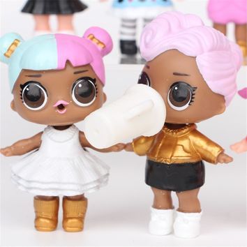 8PCS LOL SURPRISE DOLL Baby Tear LOL Dolls 7 Layer Surprise Action Figure Changing Toys For Children Gifts Dropship USPS Makeup