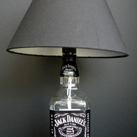 JACK DANIELS Old No 7 Whiskey Recycled Bottle Lamp 1Liter