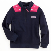 Girls Whale Embroidered Shep Shirt
