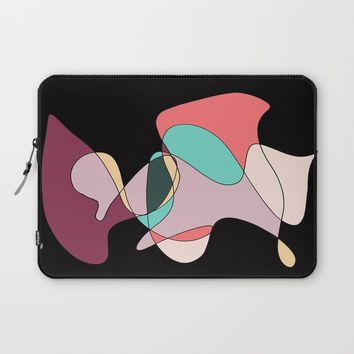 Abstract 1 (Black) Laptop Sleeve by DuckyB (Brandi)