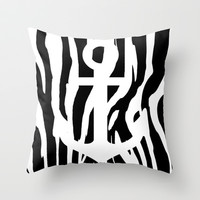Anchor & Zebs Throw Pillow by Angga Mahardika