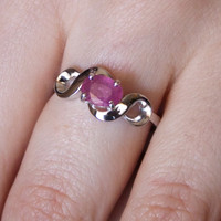 Ruby ring,wedding silver ring,wedding ruby ring,bridal silver ring,wedding jewelry ring,engagement ruby ring,solitare ring,promise gift ring