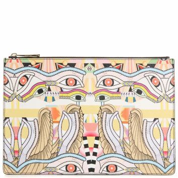 Iconic printed clutch