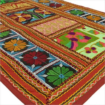 "58"" Suzani Embroidered Patchwork Wall Hanging Tapestry"