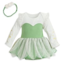 Disney Tinkerbell Fairy Baby Costume w/ Wings & Headband 3 6 9 12 18 24 Months