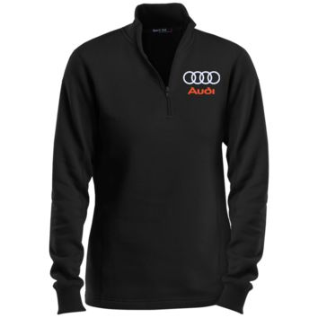 Audi Ladies' 1/4 Zip Sweatshirt