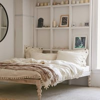 Bohemian White Platform Bed | Urban Outfitters