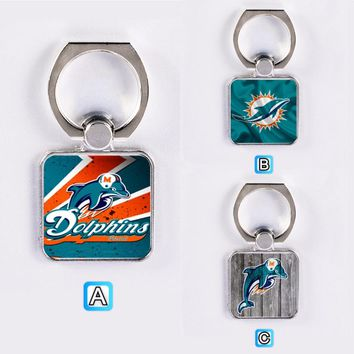 Miami Dolphins Football Phone Ring Grip Holder Mount Stand Universal Gift