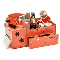 Drawer Organizer Wooden Make Up Cosmetic Box