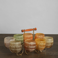 Urban Outfitters - Vintage Rubberized Glass - Set of 8