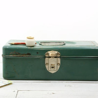 Green Metal Tackle Box - Toolbox - Industrial Storage