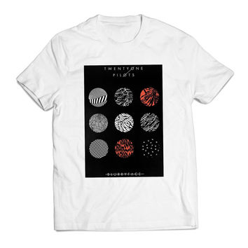 Twenty One Pilots Blurry Face Logo Band Clothing T shirt Men