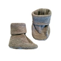 Heather Gray Preemie and Newborn Baby Booties