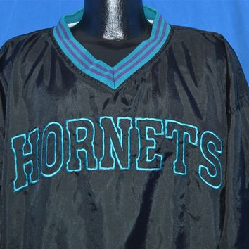 90s Charlotte Hornets NBA Pullover Jacket Medium
