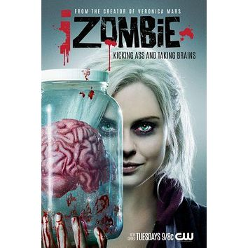 I Zombie poster Metal Sign Wall Art 8in x 12in