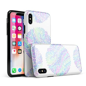 Iridescent Dahlia v5 - iPhone X Swappable Hybrid Case