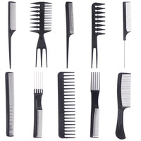 10pcs Make Up Professional Hair Combs Set