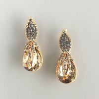 Champagne Toast Crystal Earrings