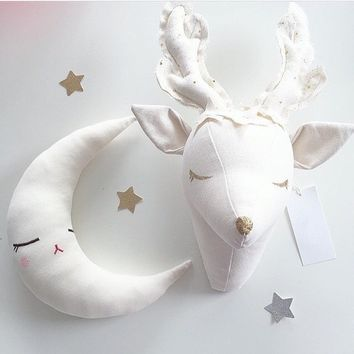 INS Fashion Kids Baby Stuffed Toys Animals Style Room Wall Decoration Christmas Gift