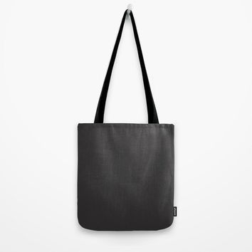 Midnight Black Tote Bag by spaceandlines