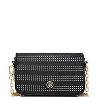 Tory Burch Robinson Perforated Saffiano Adjustable Shoulder Bag