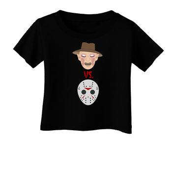 Scary Face Versus Scary Face - Halloween Infant T-Shirt Dark