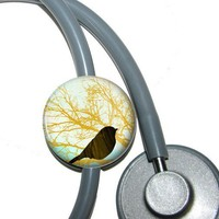 Stethoscope ID Tag Bird by abbyloutwo on Etsy