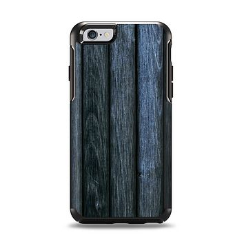 The Dark Blue Washed Wood Apple iPhone 6 Otterbox Symmetry Case Skin Set