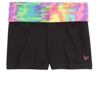TIE DYE WAISTBAND YOGA SHORTS | GIRLS DANCEWEAR & GYMNASTICS ACTIVEWEAR | SHOP JUSTICE