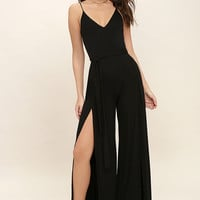 Just Breathe Black Jumpsuit