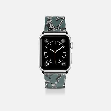 woodland fox party juniper gray apple watch band Apple Watch Band (38mm) by Sharon Turner   Casetify