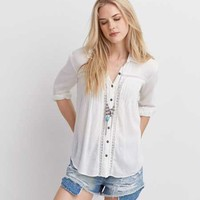 Button Down Shirts for Women | American Eagle Outfitters