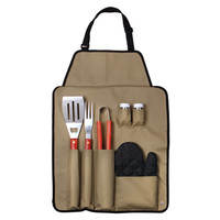 Outdoor 7-piece Barbecue Apron and Utensil Set | Overstock.com Shopping - The Best Deals on Grilling Tools & Cookware
