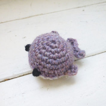 Mini crochet whale, mini crochet animal, crochet amigurumi, beach style, whale art doll, mini whale doll, cute whale, ready to ship