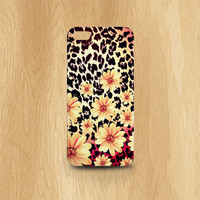 iphone 5 case, Leopard iphone 5 case, flowers, girly iphone 5 case, iphone 5s case, hipster iphone cases, iphone cases for girls, leopard